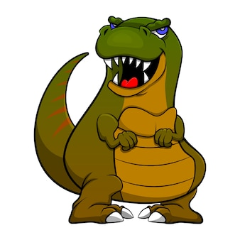 Baby tyrannosaurus стоя мультфильм вектор