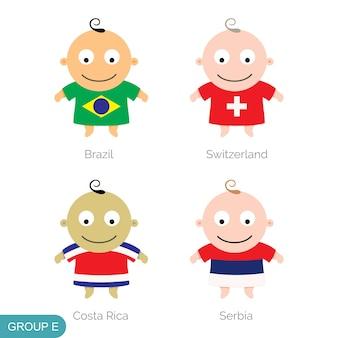 아기 세계 축구, 재미있는 만화