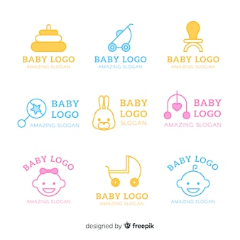 Коллекция логотипов baby