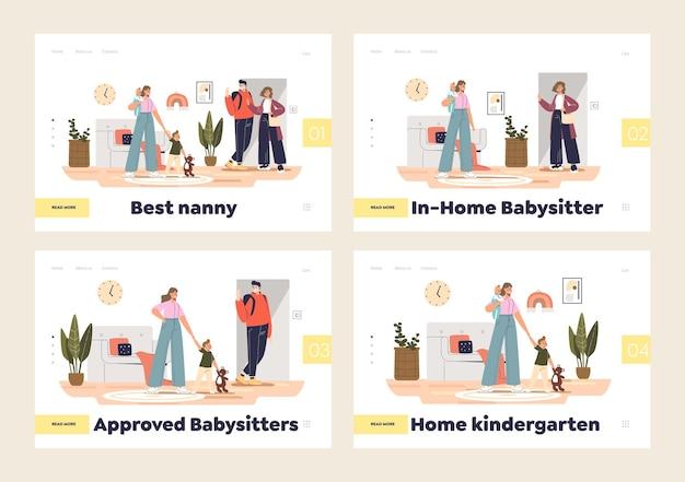 베이비 시터 서비스 및 가정 유치원 개념