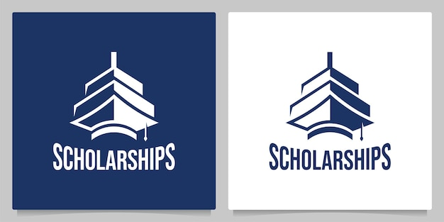 Bachelor hat education nautical big ship vintage logo design  illustrations