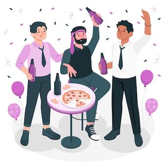 バチェラー パーティーの概念図