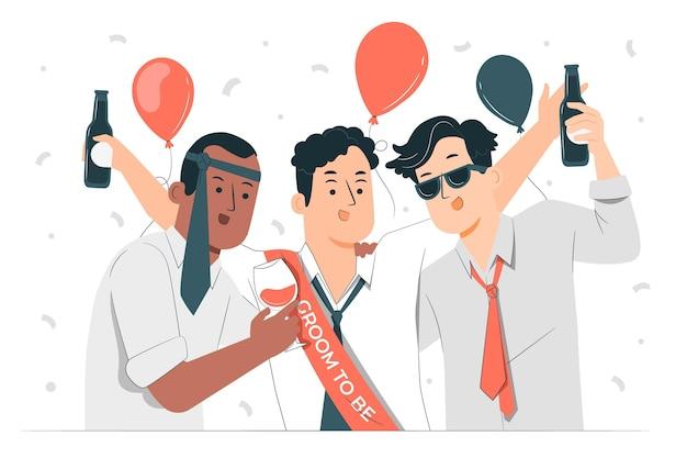 Bachelor party concept illustration