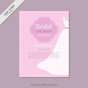 Бачелоретте открытка с свадебное платье