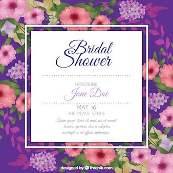 Bachelorette invitation with pretty flowers