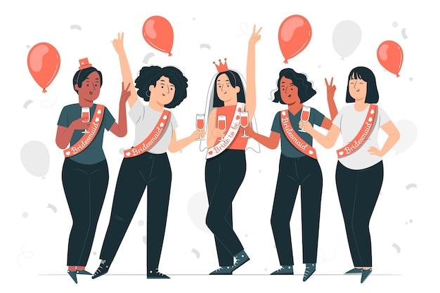 Bachelorette party concept illustration