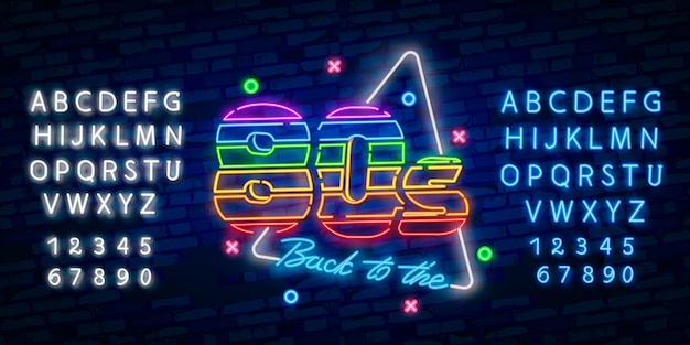 Back to the 80s neon sign