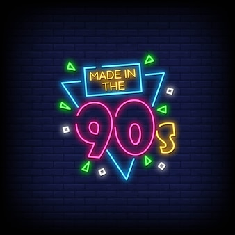 Back to 90's neon signs style