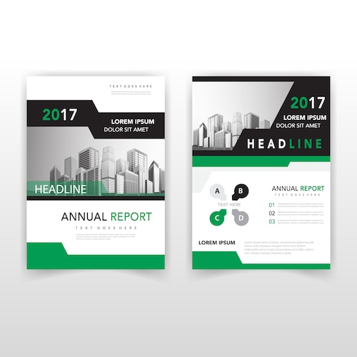 back and front corporate flyer
