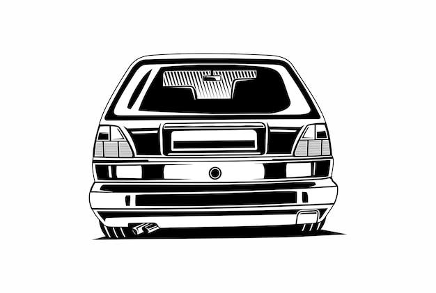 Вид сзади машины черный или белый