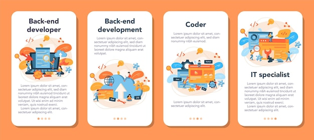 バックエンド開発モバイルアプリケーションバナーセット