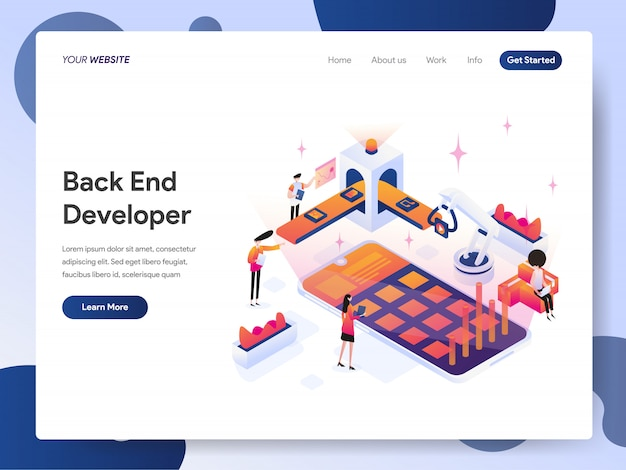 Back end engineer banner of landing page