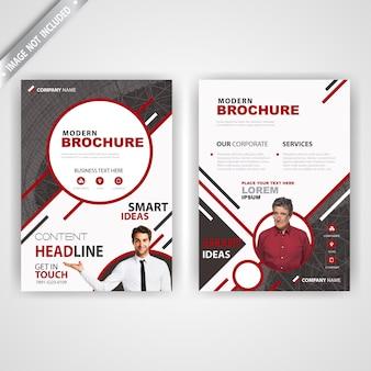 Back and font stylish magazine