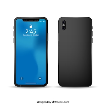 Back and front of smartphone