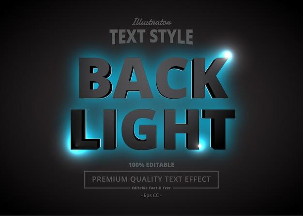 Back light illustrator текстовый эффект