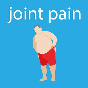 Back and neck pain spine disease spinal pain and hernia fat obese man joint ache fat patient