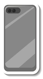 白い背景の上のスマートフォンの背面