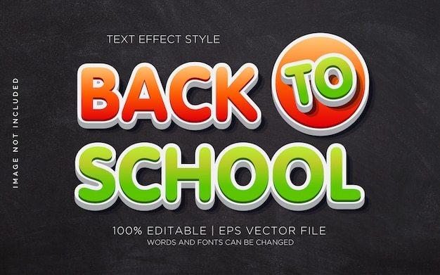 Back to school 03 text effects