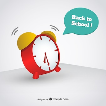 Back to school alarm clock