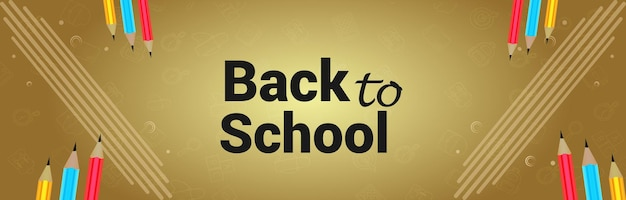 Back to school background and banner