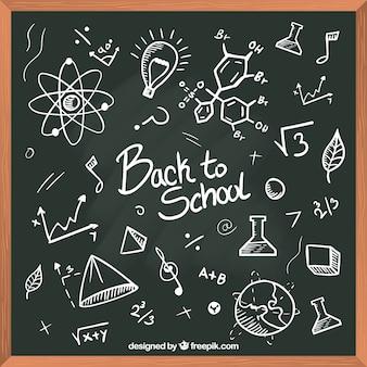 Back to school background in blackboard style