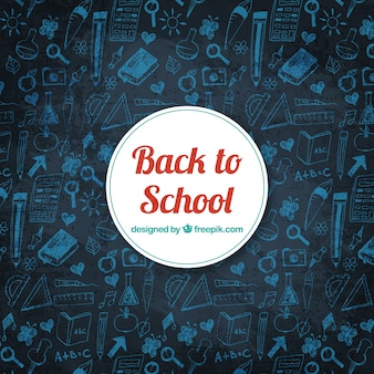 Back to school background in chalkboard style