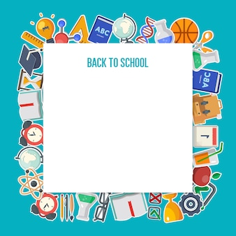 Back to school background concept