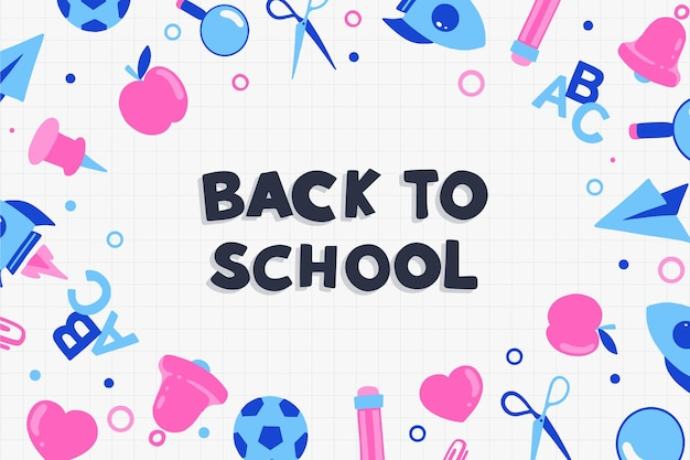 Back to school background draw design