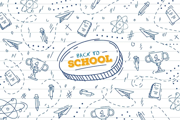 Back to school background draw theme