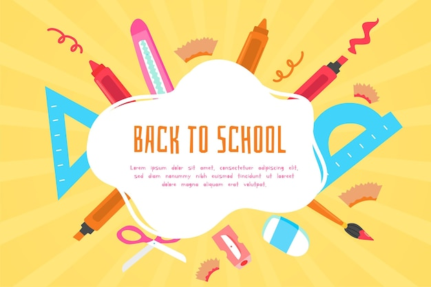 Back to school background draw