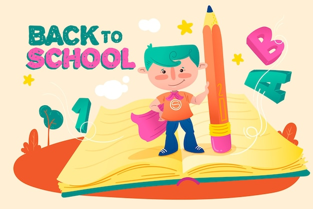 Back to school background drawing