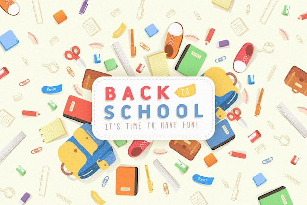 Back to school background  flat design