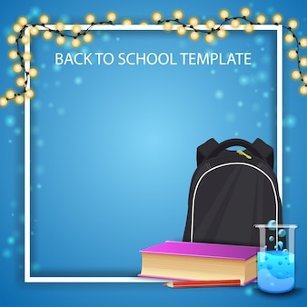 Back to school background frame