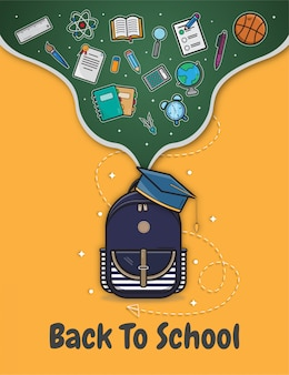 Back to school background illustration