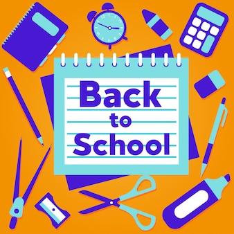 Back to school background marketing social media