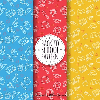 Back to school background pattern collection