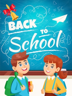 Back to school background poster
