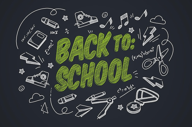 Back to school background realistic design