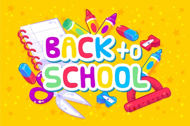 Back to school background with accessories