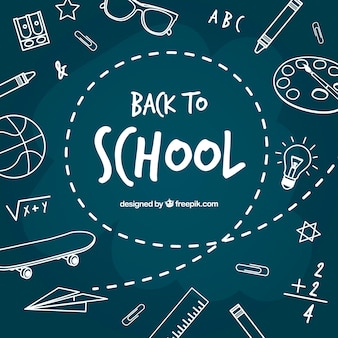 Back to school background with blackboard style