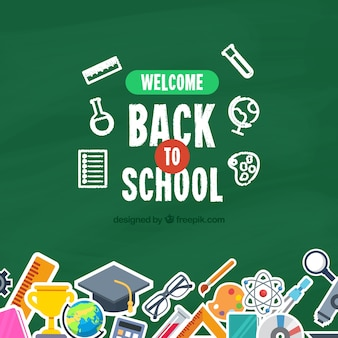 Back to school background with blackboard