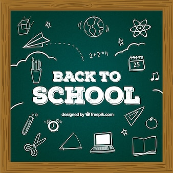 Back to school background with chalkboard style