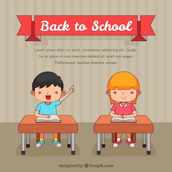 Back to school background with children