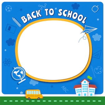 Back to school background with education symbol