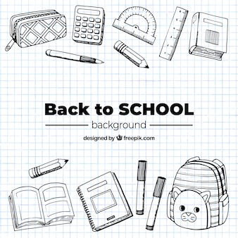 Back to school background with elements
