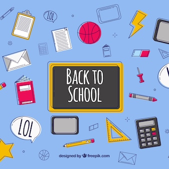 Back to school background with flat design