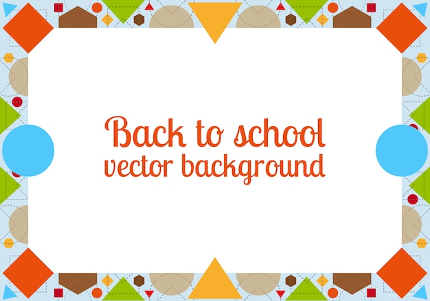 Back to school background with frame