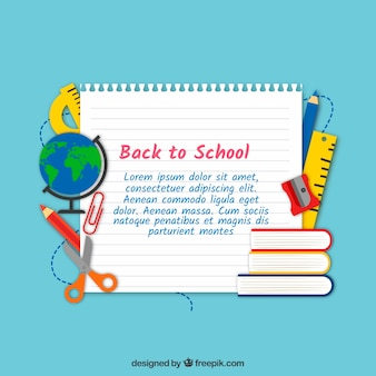 Back to school background with paper