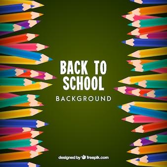 Torna a scuola sfondo con matite