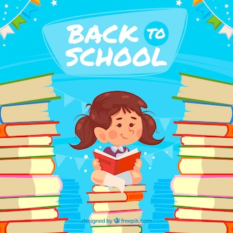 Back to school background with pupil